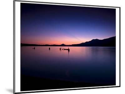 Lake Quinault Sunset-Richard Desmarais-Mounted Art Print