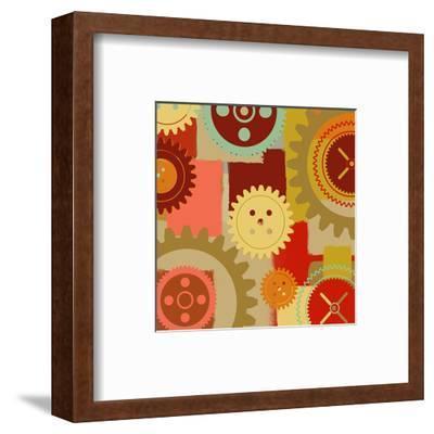 Industrial Ornament I-Yashna-Framed Art Print