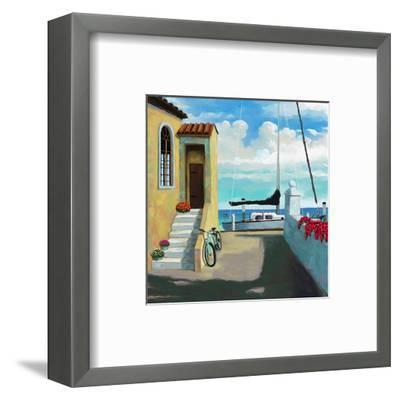Seaside Steps-Kurt Novak-Framed Art Print