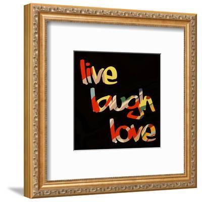 Live Laugh Love I-Irena Orlov-Framed Art Print