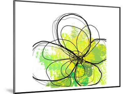 Green Abstract Brush Splash Flower-Irena Orlov-Mounted Art Print