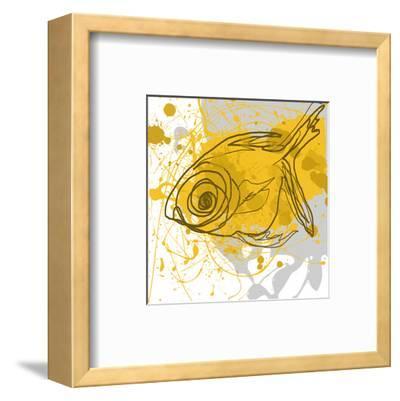 Yellow Fish-Irena Orlov-Framed Art Print