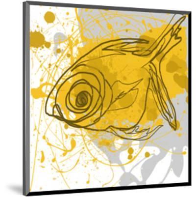 Yellow Fish-Irena Orlov-Mounted Art Print