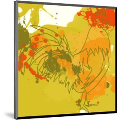 Green Rooster-Irena Orlov-Mounted Art Print