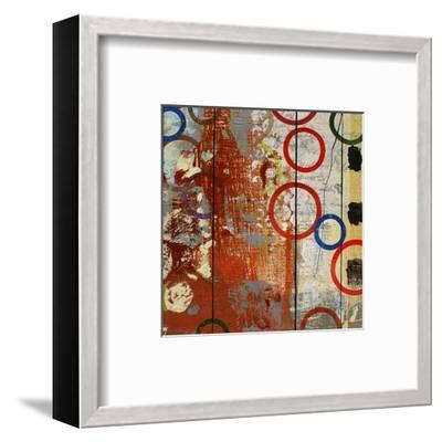 Rainbow Circles V-Yashna-Framed Art Print