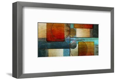 Abstract Intersections Panels I-Karin Connolly-Framed Art Print