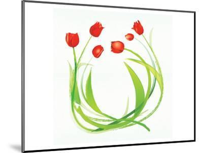 Spring Wreath-Miranda York-Mounted Art Print