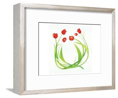 Spring Wreath-Miranda York-Framed Art Print