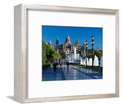Fountain Natl Museum Barcelona--Framed Art Print