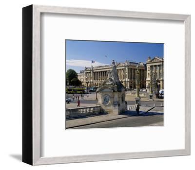 Fountain Place Concorde Paris--Framed Art Print
