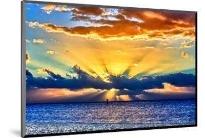 Sun Rays Sunrise-Toni Vaughan-Mounted Art Print