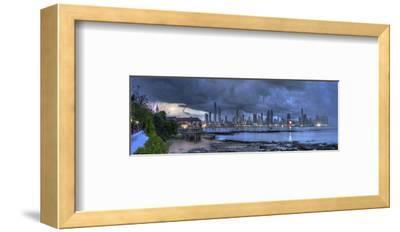 Skyscape City Panorama-Nish Nalbandian-Framed Art Print