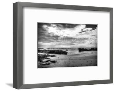 Black and White Beach-Nish Nalbandian-Framed Art Print