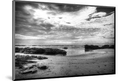Black and White Beach-Nish Nalbandian-Mounted Art Print