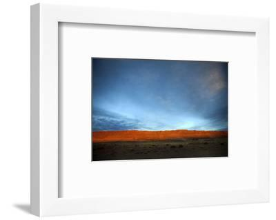 Red Cliff Blue Sky-Nish Nalbandian-Framed Art Print