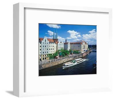 River Nikolai Church Berlin--Framed Art Print