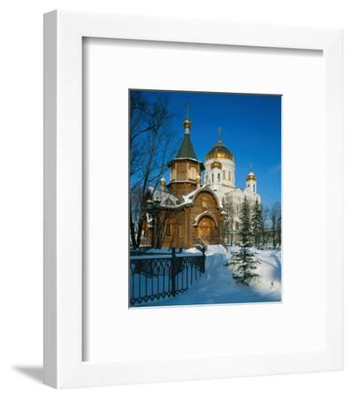 Cathedral of Christ the Saviour, Moscow, Russia--Framed Art Print