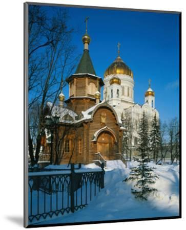 Cathedral of Christ the Saviour, Moscow, Russia--Mounted Art Print
