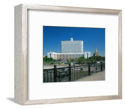 The White House in Moscow, Russia--Framed Art Print
