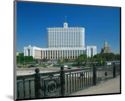 The White House in Moscow, Russia--Mounted Art Print