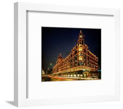 Christmas lights at Harrods, London, South England, Great Britain--Framed Art Print