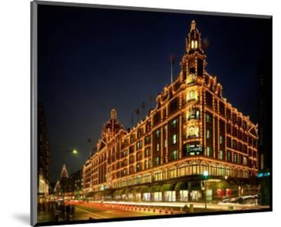 Christmas lights at Harrods, London, South England, Great Britain--Mounted Art Print