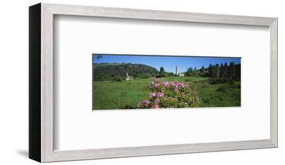 Monastic town of Glendalough in Wicklow Mountains, County Wicklow, Leinster, Ireland--Framed Art Print