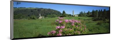 Monastic town of Glendalough in Wicklow Mountains, County Wicklow, Leinster, Ireland--Mounted Art Print