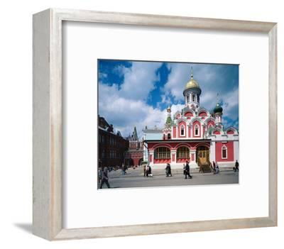 Orthodox Church at Red Square, Moscow, Russia--Framed Art Print