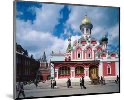 Orthodox Church at Red Square, Moscow, Russia--Mounted Art Print