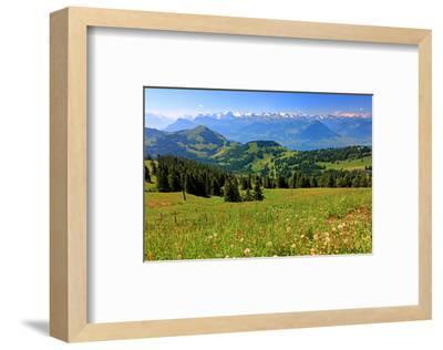 Landscape on Rigi-Kulm with View of Lake Lucerne and the Urner Alps, Canton of Lucerne, Switzerland--Framed Art Print
