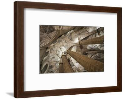 Vault in Santa Maria del Mar in Barcelona, Catalonia, Spain--Framed Art Print