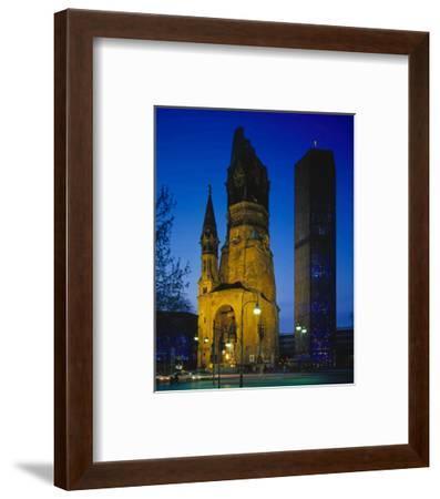 Kaiser-Wilhelm Memorial Church in Berlin, Germany--Framed Art Print