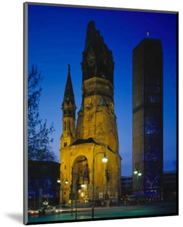 Kaiser-Wilhelm Memorial Church in Berlin, Germany--Mounted Art Print