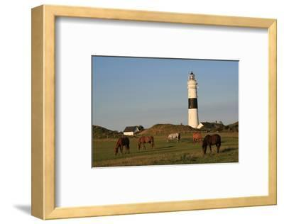 Lighthouse in Kampen, Sylt, Schleswig Holstein, Germany--Framed Art Print
