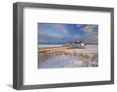 Ahlbeck Pier and Beach, Baltic Sea Resort of Ahlbeck, Usedom, Germany--Framed Art Print