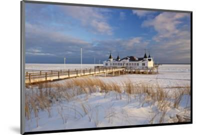 Ahlbeck Pier and Beach, Baltic Sea Resort of Ahlbeck, Usedom, Germany--Mounted Art Print