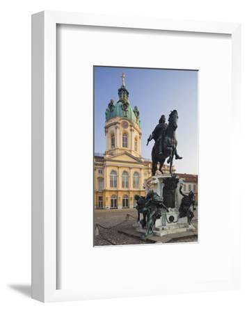 Equestrian sculpture of Friedrich Wilhelm I in the Court of Honour of Charlottenburg Palace--Framed Art Print