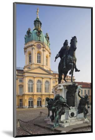 Equestrian sculpture of Friedrich Wilhelm I in the Court of Honour of Charlottenburg Palace--Mounted Art Print
