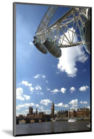 The London Eye, Big Ben and Houses of Parliament, London, England, United Kingdom of Great Britain--Mounted Art Print
