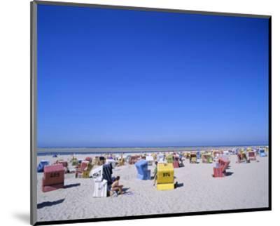 Beach chairs on Nordstrand, Langeoog, East Frisian Islands, Lower Saxony, Germany--Mounted Art Print