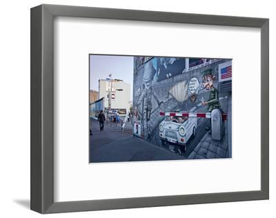 Remains of the Berlin Wall at the East Side Gallery in Berlin, Germany--Framed Art Print