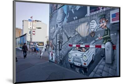 Remains of the Berlin Wall at the East Side Gallery in Berlin, Germany--Mounted Art Print