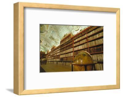 Theological library, Strahov Abbey, Prague, Central Bohemia, Czech Republic--Framed Art Print