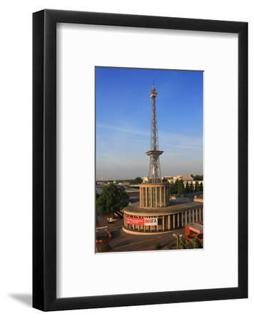 Radio Tower called Langer Lulatsch, meaning Lanky Lad, on the Exhibition Grounds in Berlin, Germany--Framed Art Print