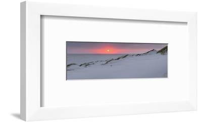 Sunset at the sea, Amrum, Schleswig-Holstein, Germany--Framed Art Print