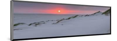 Sunset at the sea, Amrum, Schleswig-Holstein, Germany--Mounted Art Print