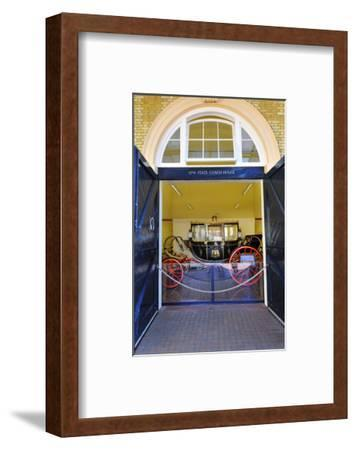 Carriage at the Royal Mews, Buckingham Palace, London, South of England--Framed Art Print