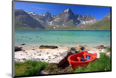 Beach at Flakstadpollen, Flakstadoya Island, Lofoten Islands, Norway--Mounted Art Print