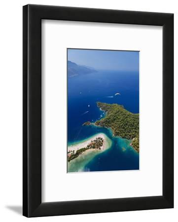 View of the Lagoon of Oludeniz near Fethiye, Mugla Province, Lycia, Turkey--Framed Art Print